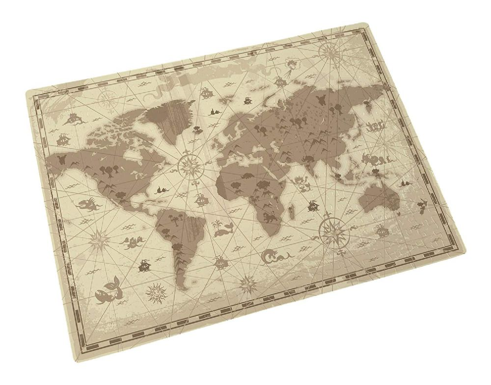 Old Map & Compass Cartography Novelty Gift 300 Piece Jigsaw Puzzle